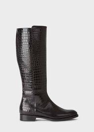 Nicole Long Boot, Black, hi-res
