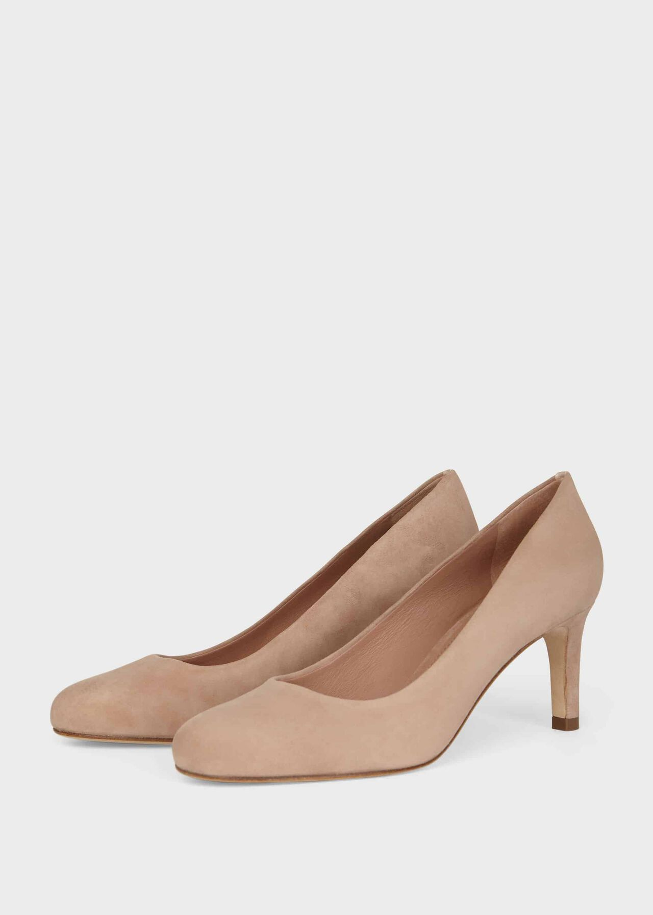 Lizzie Suede Stiletto Court Shoes Oyster