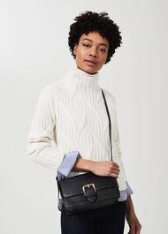 Selborne Leather Shoulder Bag , Black, hi-res