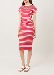 Bridget Dress, Flamingo Pink, hi-res