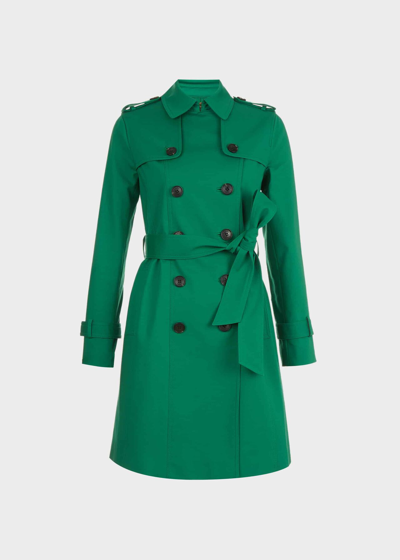 Saskia Water-Resistant Trench Coat Green