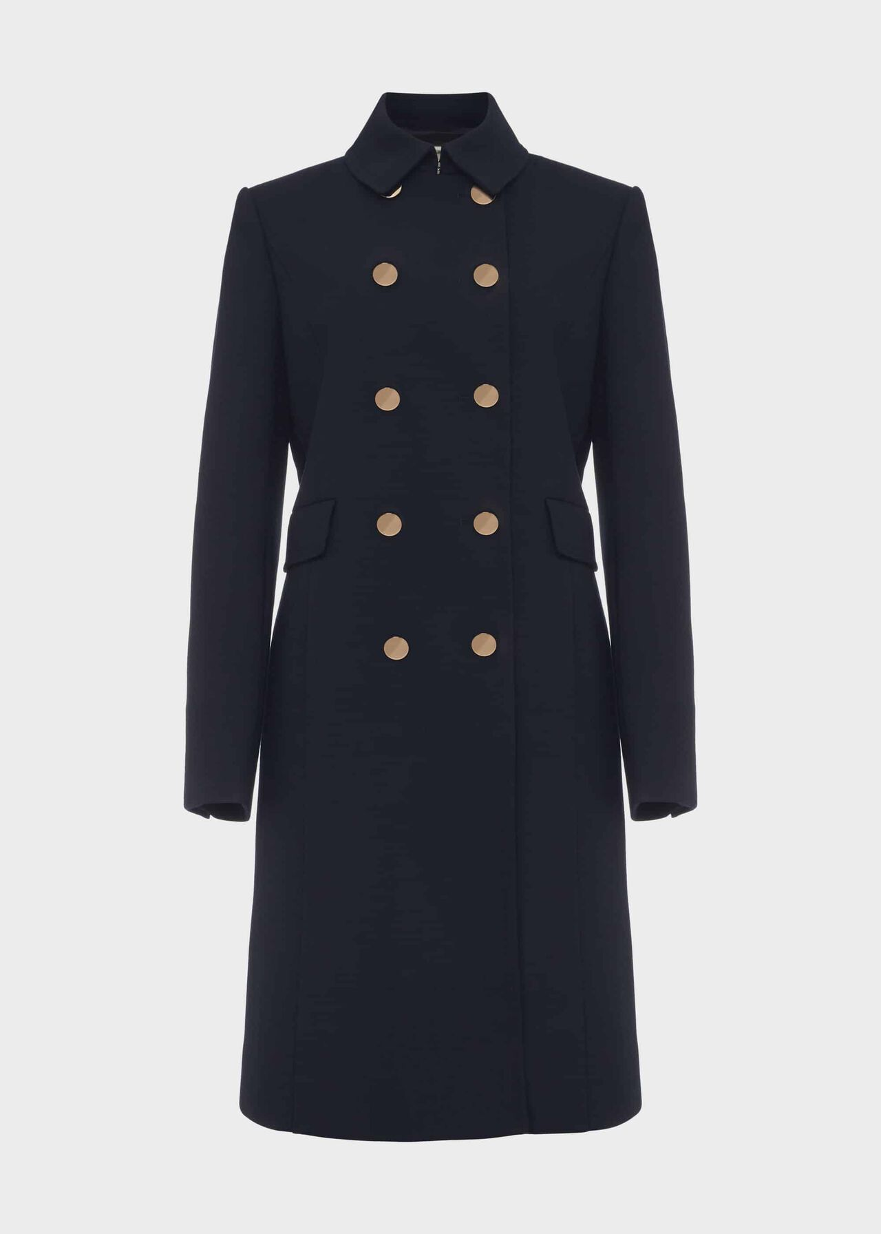 Cecelia Military Coat With Wool Navy