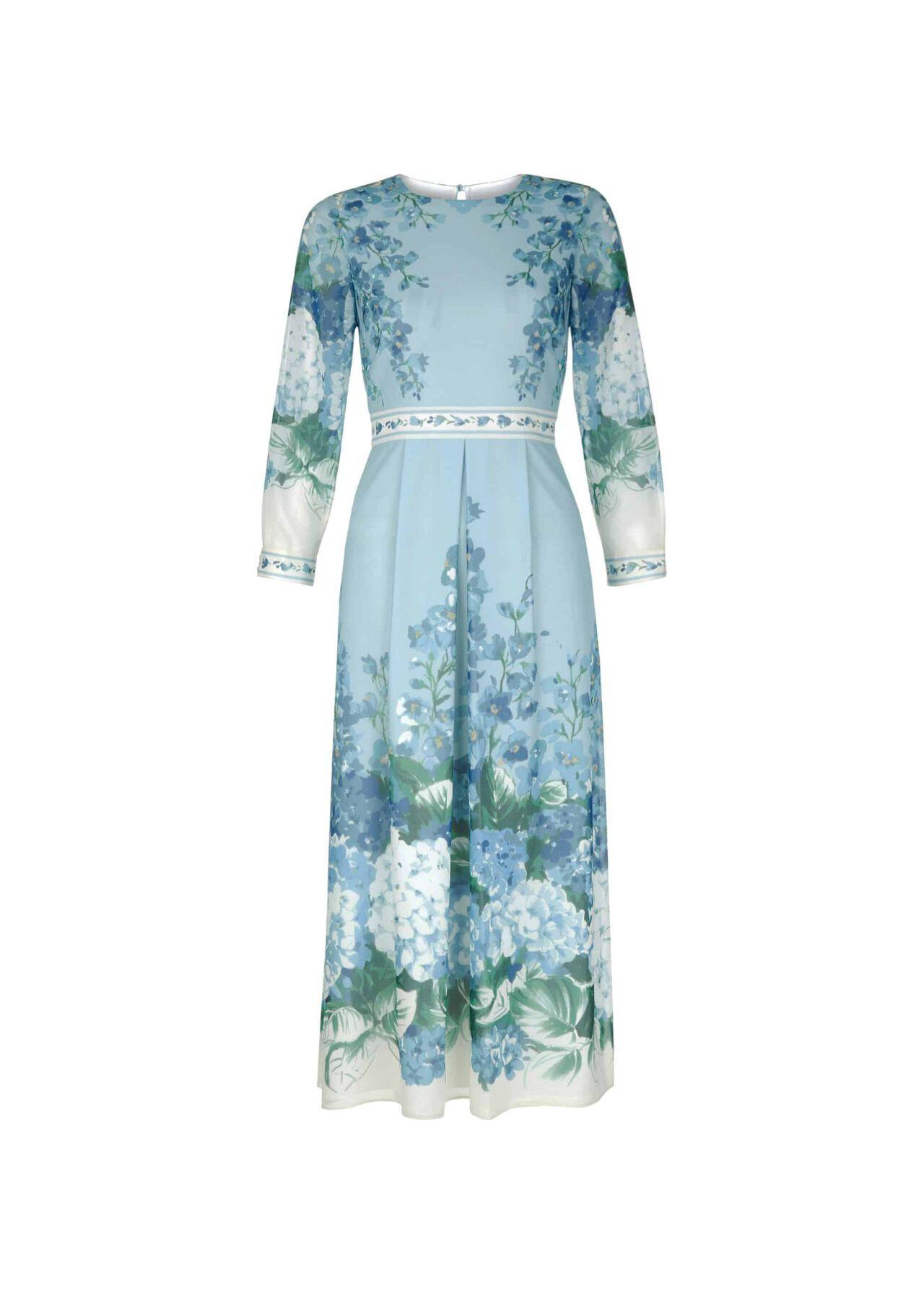 Hydrangea Dress Blue Multi