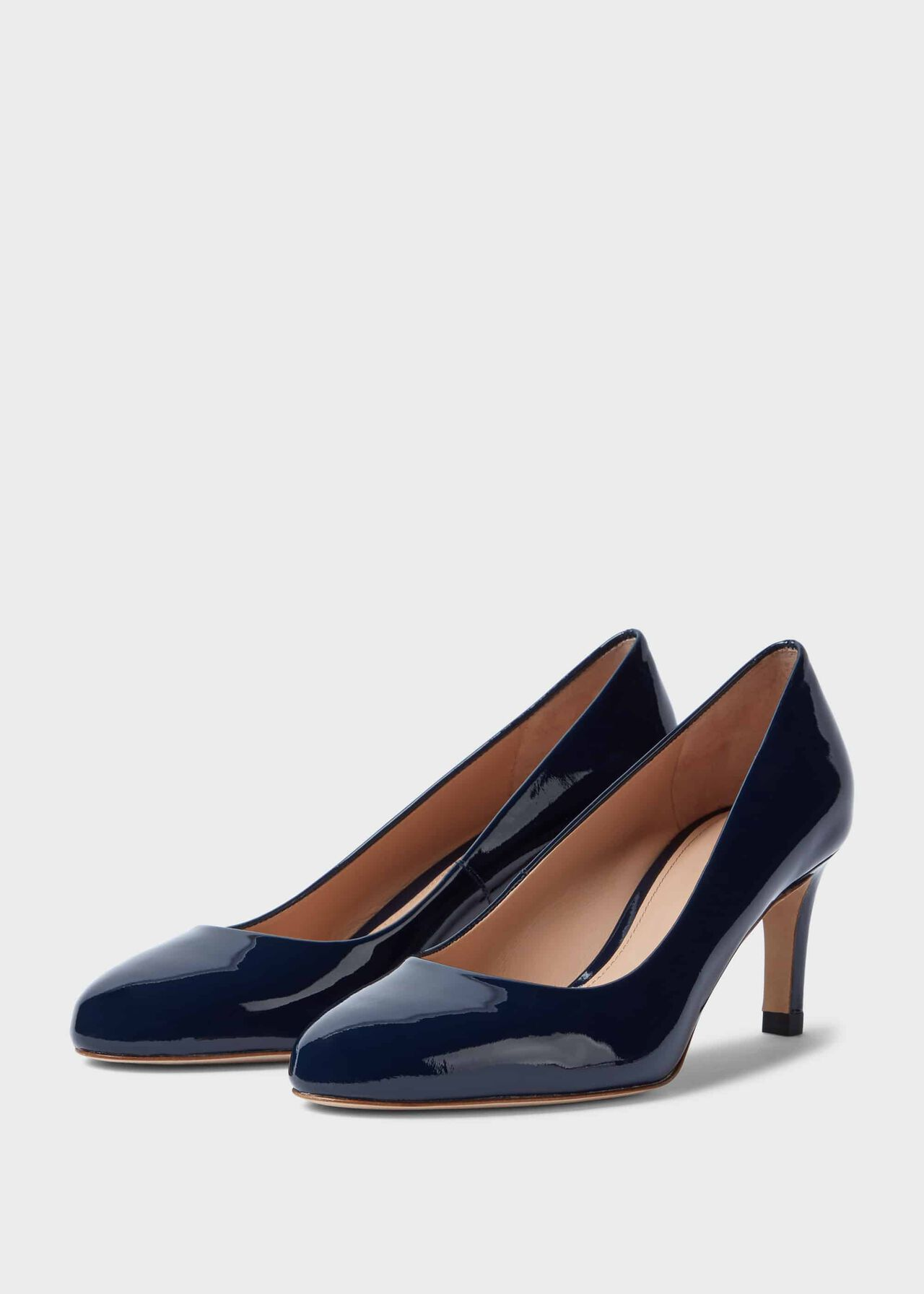 Lizzie Patent Court Shoes Navy