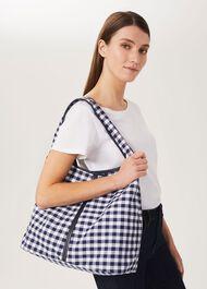 Lula Fabric Bag, Navy Ivory, hi-res