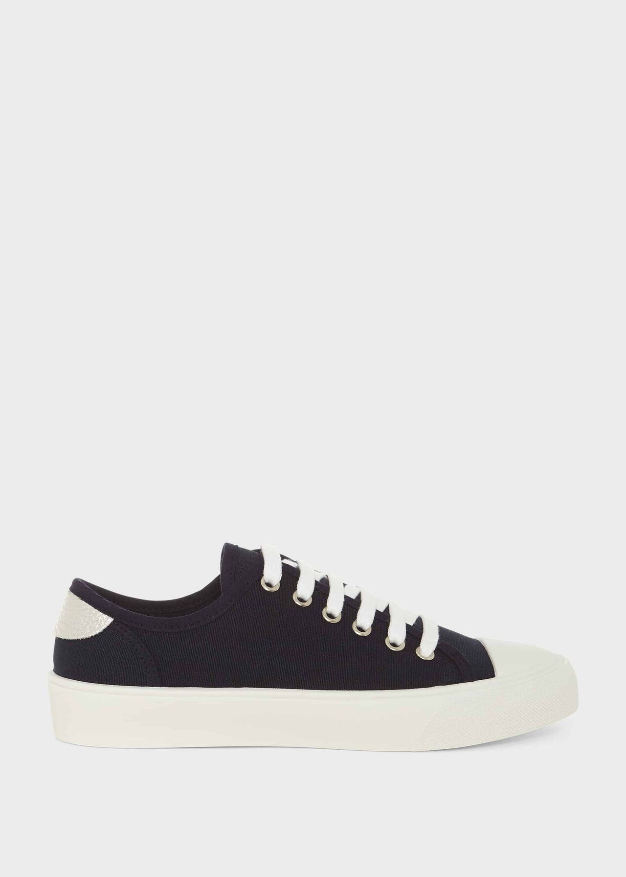 Bess Canvas Trainers, Navy, hi-res