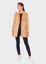 Lexi Wool Blend Collar Coat, Camel, hi-res