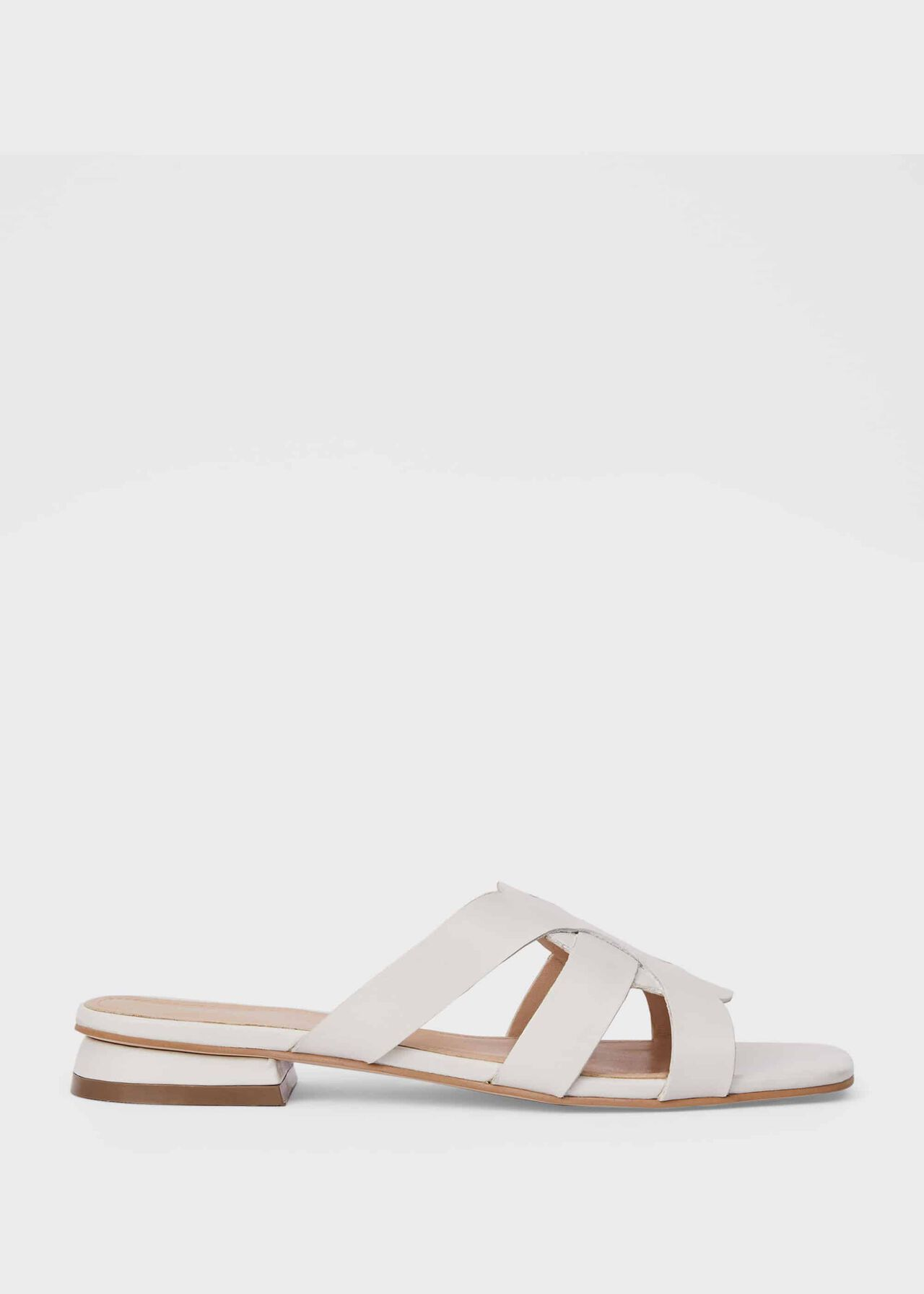 Alexandra Leather Sandals, White, hi-res