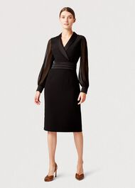 Fridah Tux Dress, Black, hi-res