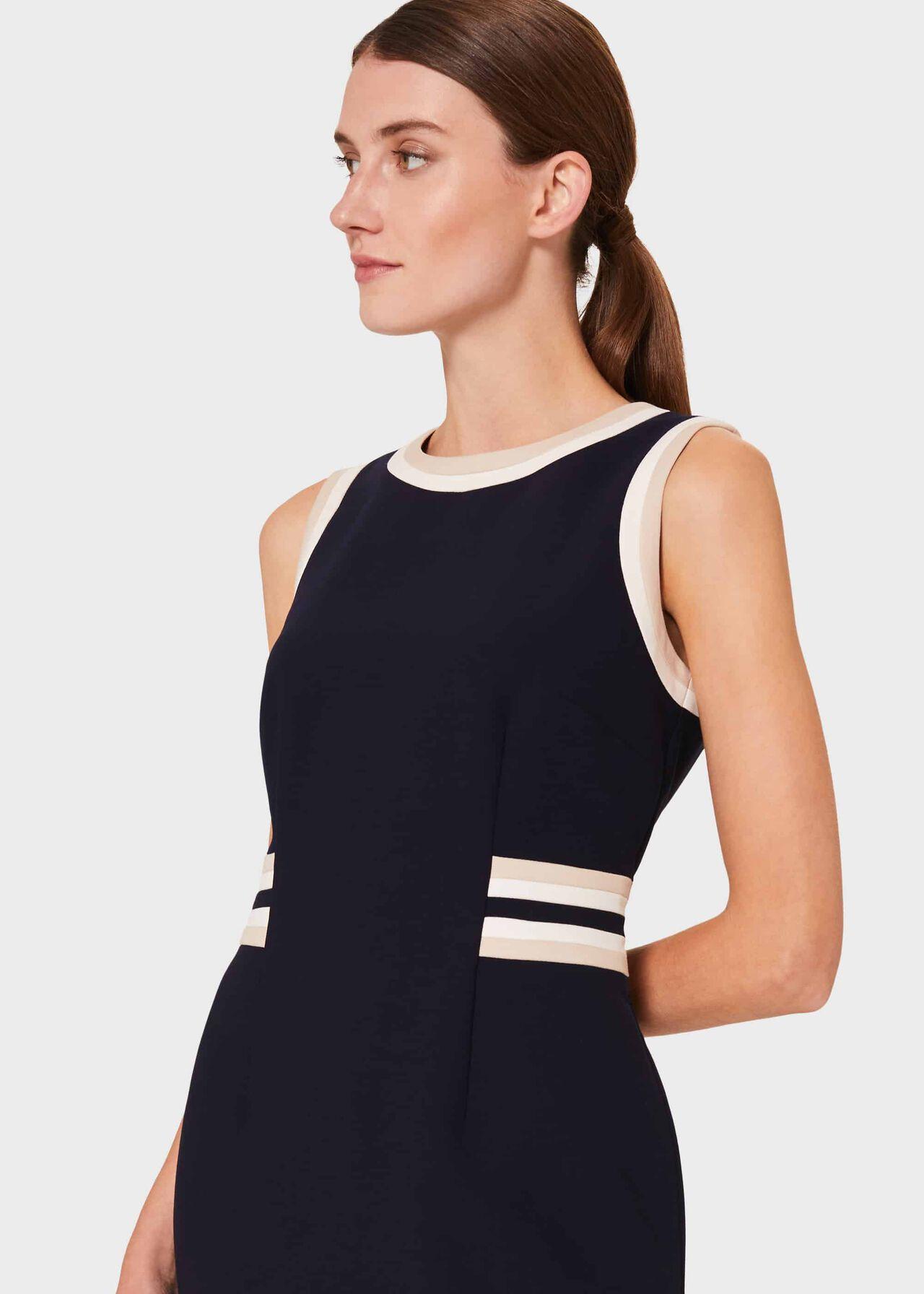Ebony Dress, Navy Camel Ivry, hi-res