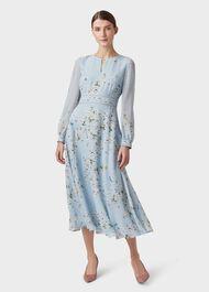 Silk Skye Dress, Celeste Blue, hi-res