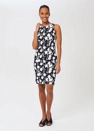 Moira Floral Shift Dress, Midnight Ivory, hi-res