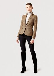 Sophia Wool Jacket, Camel Multi, hi-res