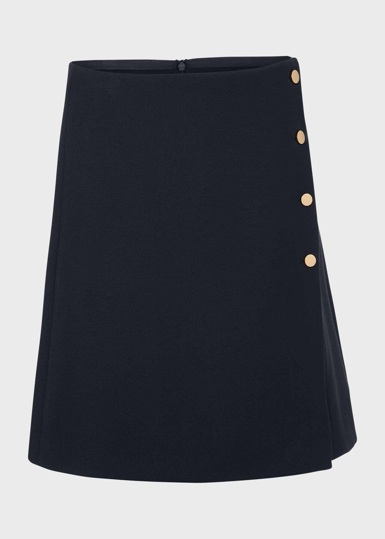 Aurielia A Line Skirt Navy
