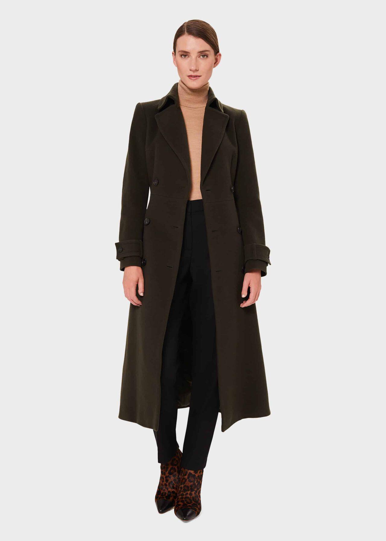 HOBBS Ladies Black Wool Blend Single Breasted Shona Coat UK14 BNWT RRP239
