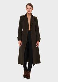 Lori Wool Cashmere Belted Coat, Olive, hi-res
