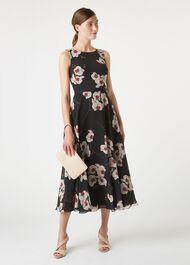 Carly Dress, Black Multi, hi-res