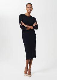 Myra Knitted Dress, Navy, hi-res