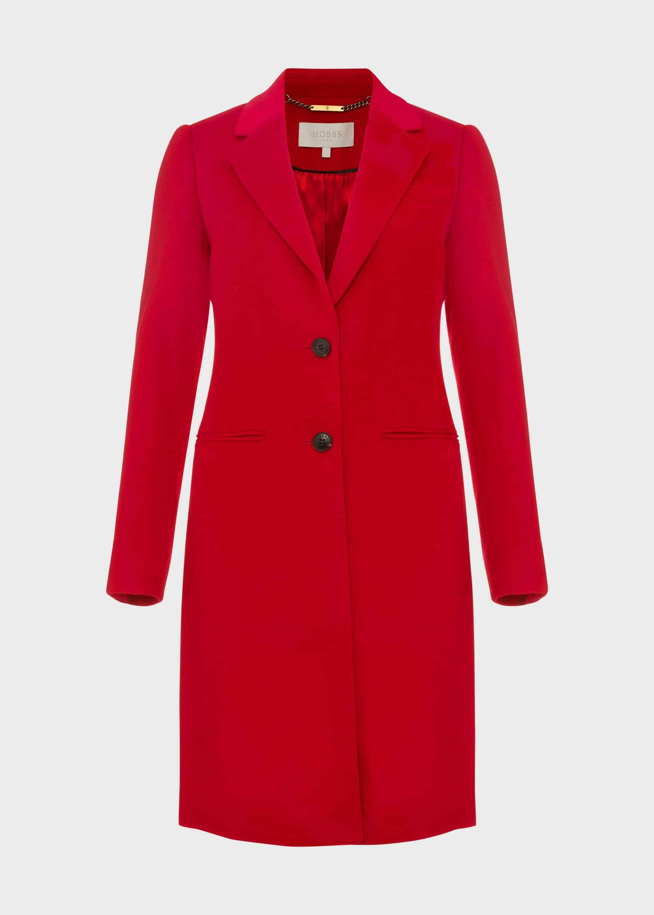 Petite Tilda Wool Collar Coat Red