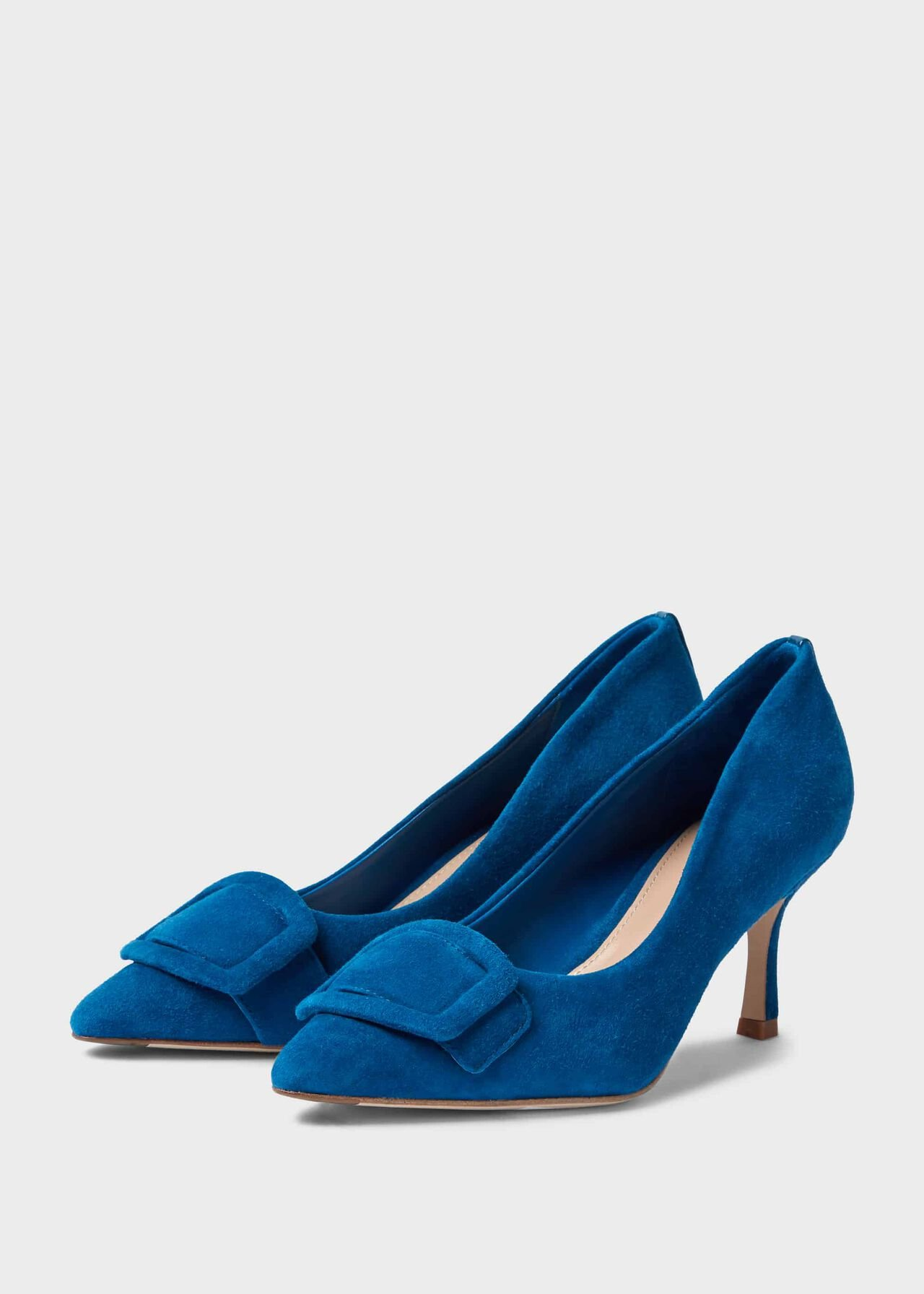 Alison Suede Stiletto Court Shoes Kingfisher
