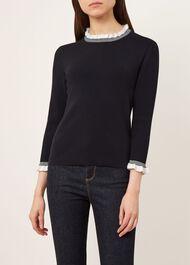 Angela Sweater, Navy Ivory, hi-res