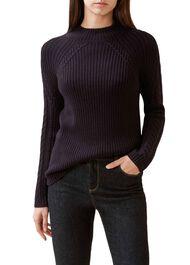 Beatrix Wool Blend Sweater, Navy, hi-res