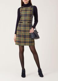 Margot Wool Dress, Saffron Multi, hi-res