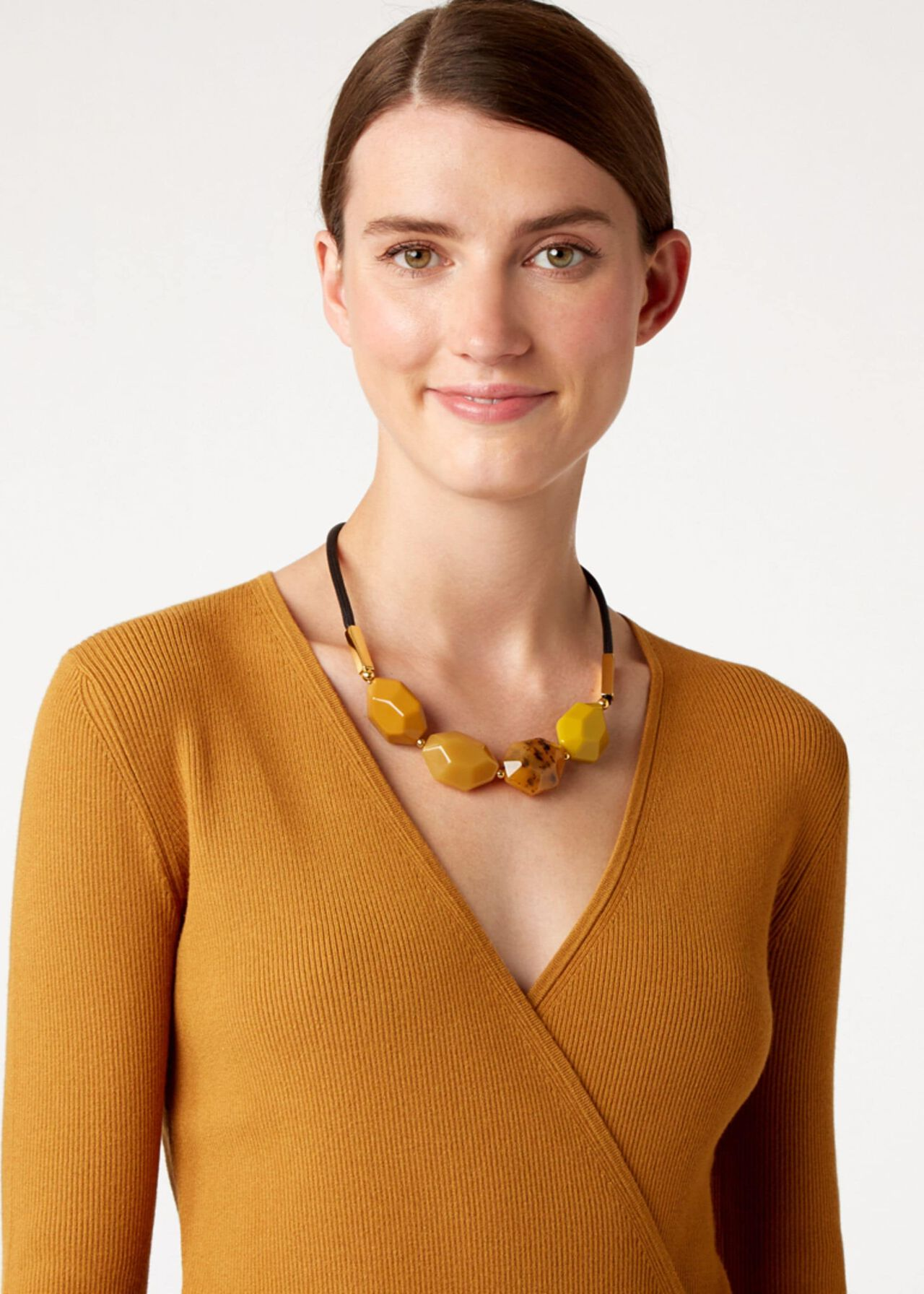Lucy Necklace, Ochre, hi-res
