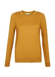Penny Merino Wool Sweater, Ochre, hi-res