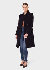 Petite Maisie Wool Blend Coat, Navy, hi-res