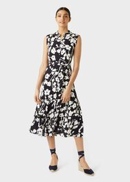 Esme Floral Shirt Dress, Navy Multi, hi-res