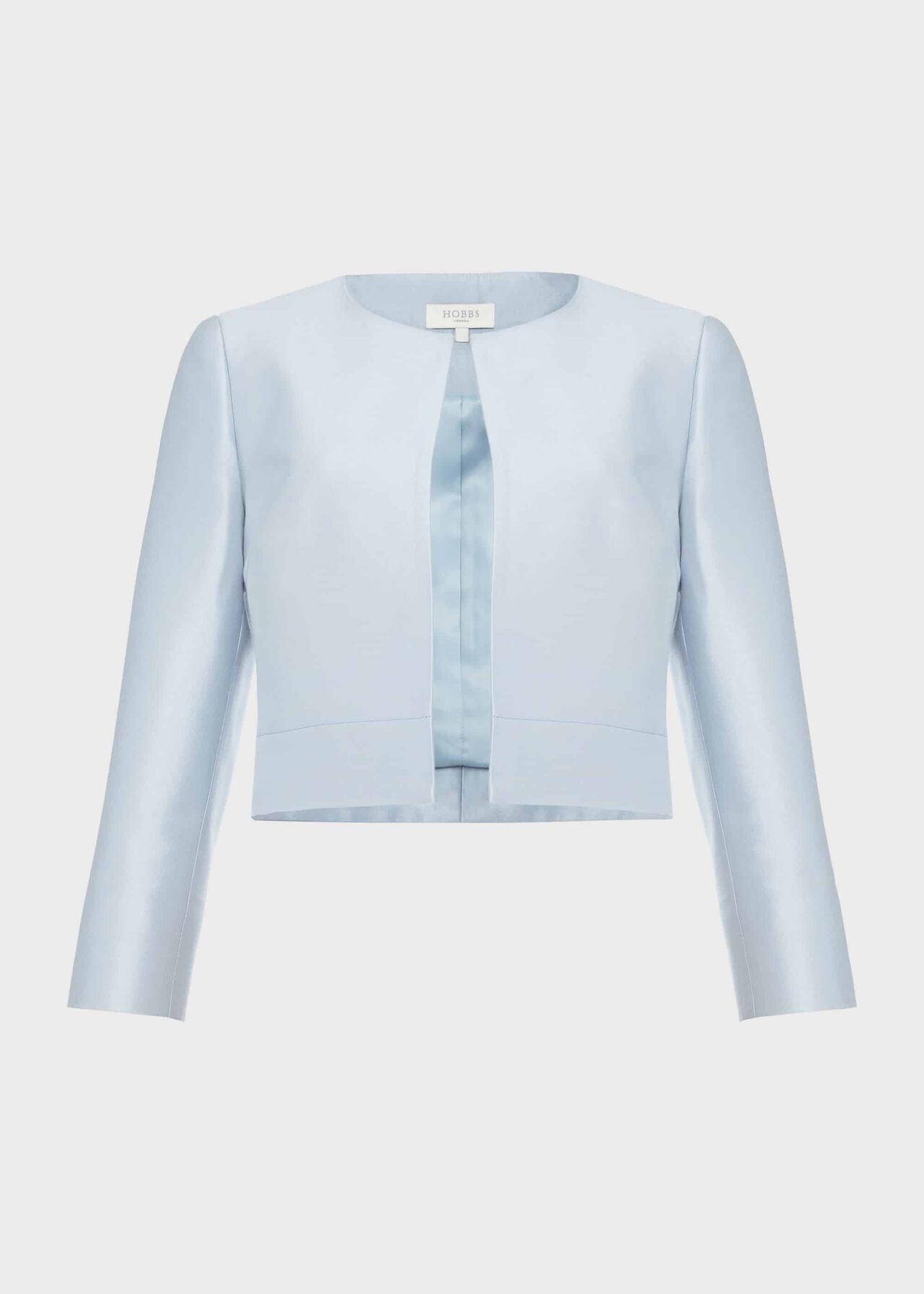 Marcella Silk Wool Jacket Celeste Blue