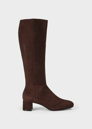 Hailey Flexi Knee Boot, Chocolate, hi-res