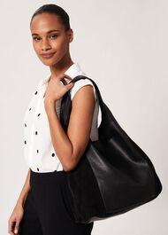 Lula Leather Bag, Black, hi-res