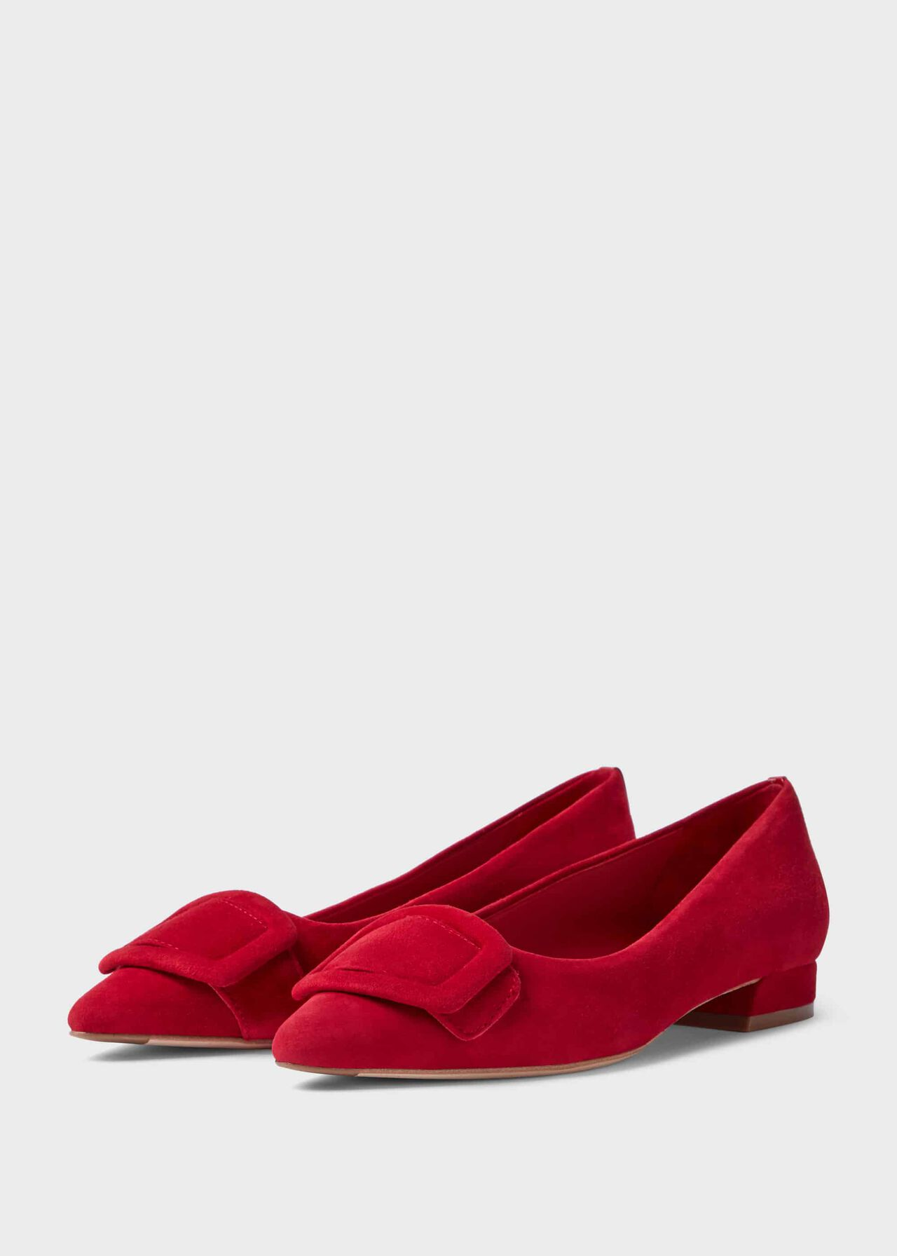 Alison Suede Flat Red