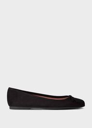 Prior Suede Ballerinas, Black, hi-res