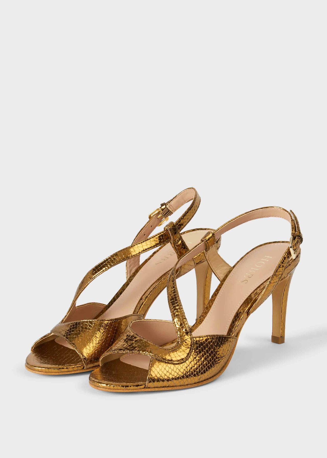 Clarissa Stiletto Sandals Gold