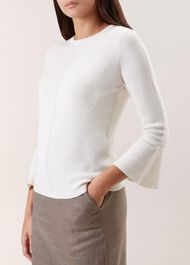 Becky Merino Wool Blend Sweater, Ivory, hi-res