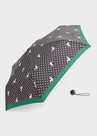 Scotty Dog Umbrella, Navy Green, hi-res