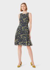 Ava Floral Dress, Navy Multi, hi-res