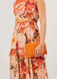 Warwickshire Clutch Bag, Sunset Orange, hi-res