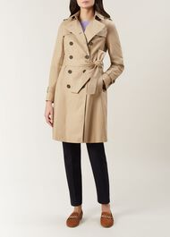 Hooded Saffie Trench Coat, Neutral, hi-res