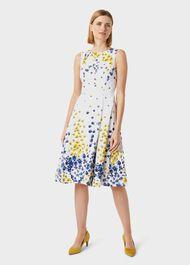 Cleo Cotton Blend Floral Dress, Ivory Multi, hi-res