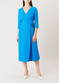 Cassie Wrap Dress, Cobalt, hi-res