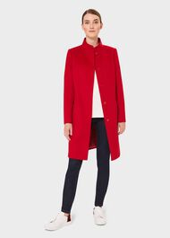 Mandy Wool Coat, Red, hi-res