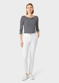 Sonya Striped Top, Navy Ivory, hi-res
