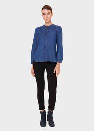 Chloe Denim Shirt, Blue, hi-res