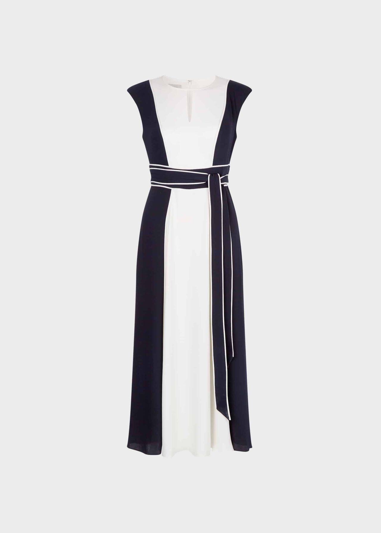 Rae Colourblock Fit And Flare Dress Navy Ivory