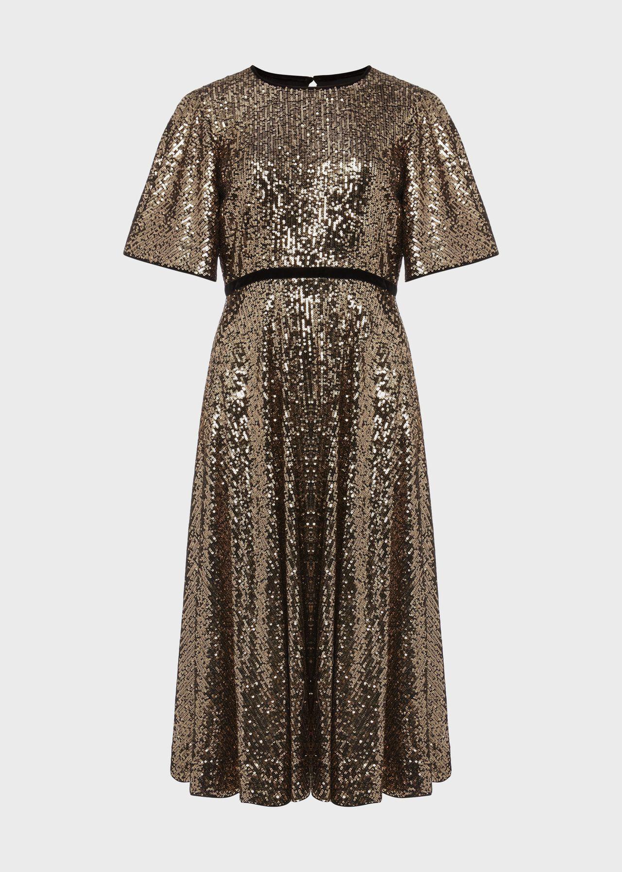 Betsey Sequin Dress Metallic