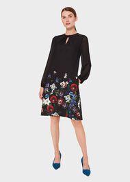Aura Printed Dress, Black Multi, hi-res